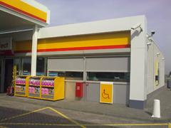 Windvaste Screens geplaatst bij de Shell in Haps.
