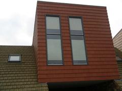Meerdere walwoningen in Beuningen voorzien van duettegordijnen.