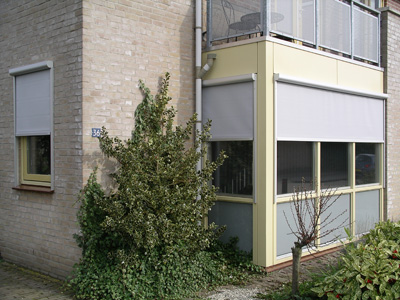 Een woning voorzien van screens.